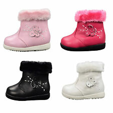 NEW Girls Soft Leather Boots/Shoes sz 3-8 (age1-3yr)  Black-Hot Pink-Pink-White