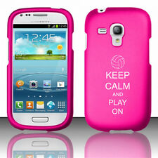 For Samsung Galaxy S III S3 MINI Rubber Hard Case Keep Calm Play On Volleyball