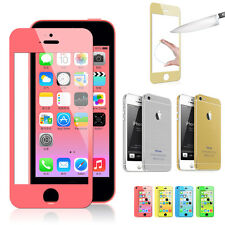 New Full Body Sticker Decal Skin Tempered Glass Screen Protector for iPhone 5S 5