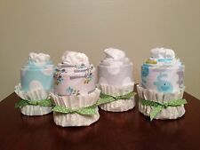 NEW Baby Receiving Blanket and Onesie Cupcakes Baby Shower Gift Sets - Sets of 4