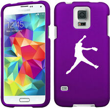 For Samsung Galaxy S4 S5 Rubber Hard 2 Piece Case Cover Female Softball Pitcher
