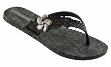 iPANEMA Gisele Bundchen Lotus Black Ladies Flip Flops NJ