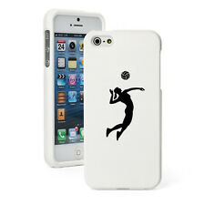 For iPhone 4 4S 5 5S 5c White Rubberized Hard Case Female Volleyball Player