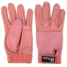 Leather Riding Gloves Soft Driving Wheel Chair Gloves Pink Kids,Gents,Ladies