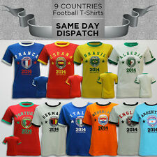 WOMENS 2014 WORLD CUP TOP PRINTED FOOTBALL SOCCER T-SHIRTS