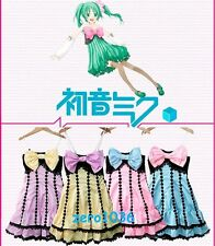cosplay costume anime Hatsune Miku meiko lin bow dress vocaloid short strapless