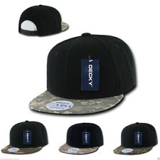 DECKY New Camouflage Camo Skin Flat Bill Hats Hat Caps 6 Panel Snapback Retro