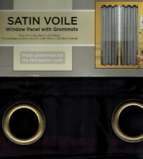 2 PANELS SATIN GROMMET SHEER WINDOW CURTAINS REATMENTS DRAPES MANY COLORS