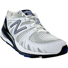 NEW BALANCE MEN'S ''1540'' OPTIMAL CONTROL RUNNING SHOES WHITE NAVY M1540WB1