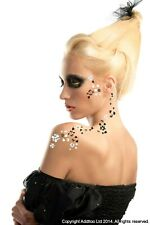 Addttoo Twin Pack Flowers Hearts Black Gold Silver Temporary Tattoos Face/Body