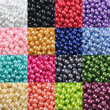 FREE SHIP Quality Czech GLASS PEARL Round & Loose BEADS Choose,4MM 6MM 8MM 10MM