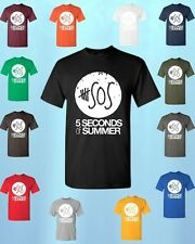 5 Seconds of Summer white logo * T-SHIRT * 5sos New Design music band tees