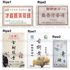 Kinds of Old Raw/Ripe Brick Tea Puerh Chinese Yunnan Uncooked/Cooked Pu'er