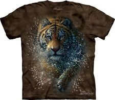 Tiger Splash T-Shirt by The Mountain. Big Cat Zoo Lion Wildlife Sizes S-5XL NEW