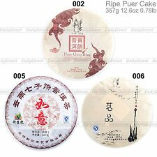 Kinds of 12.6oz/357g Old Ripe Cooked Shu Puer Tea Cake From China Yunnan