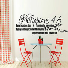 Philippians 4:6 Bible Quote Wall Sticker Christian Religion Bedroom Vinyl Decal