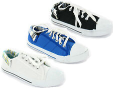 SPOT ON LADIES CANVAS LACE UP SHOES F8492 VERY COMFORTABLE IDEAL FOR EVERYDAY