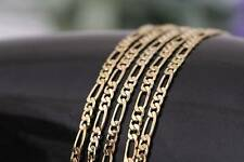 "Hot 5pcs 18K Yellow Gold Filled 2mm Italy Figaro Link Chain Necklace 18""-26"""