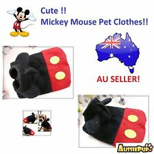 Warm Winter Mickey Mouse Pet Costume Clothes, for dog, puppy or cat kitten xmas