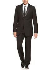 IZOD Solid Black Two Button Classic Fit Tuxedo Tux Suit