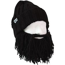 Beard Head Barbarian Vagabond Knit Beanie w/ Adjustable Removable Beard Hat