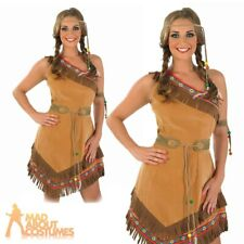 Red Indian Woman Squaw Costume Pocahontas Ladies Womens Fancy Dress Outfit 8-26