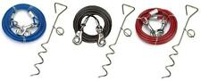 Strong Dog Steak Red, Black, Blue Stake & 10ft Cable Screw & Lead Ground Spike