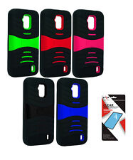 ZTE Solar Z795G U Durable Armor Heavy Duty Cover Case With Screen Protector