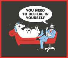 UNICORN believe in yourself happy MEN'S T SHIRT 6 sizes also in Glow in the Dark