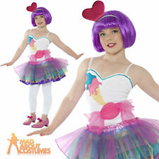 Child Katy Perry Mini Candy Girl Costume Kids Sweets Fancy Dress Tutu Outfit