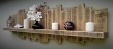 FLOATING SHELF WOOD WALL DISPLAY UNIT FARMHOUSE COTTAGE COUNTRY RUSTIC STYLE . ,