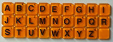 WORDS WITH FRIENDS - Game Tiles Sold Individually (Orange with Black Letters)