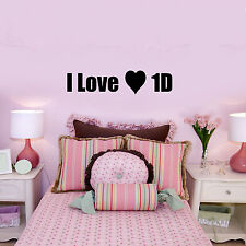 I Love 1D Wall Sticker Vinyl Decal one direction girls bedroom transfer graphic