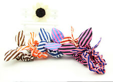 Cute Bunny Ears Shape Stripe Pattern Hair Rope Hair Accessories Bow Rubber Band