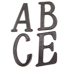 House Street Address nail on metal Zinc Letter & Number A-F 0-9 BLACK