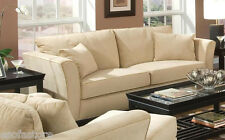 Park Place Contemporary Sofa Loveseat Chair Flair Tapered Arms & Accent Pillows