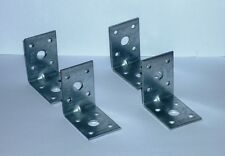 50mm HEAVY DUTY REINFORCED GALVANISED ANGLE BRACKETS CORNER BRACE JOINTS TIMBER
