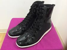 MEN'S STACY ADAMS BOOTS,AMBASSADOR,BLACK,PATENT LEATHER,HIGH TOP,FOLD DOWN,NEW!!