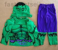 2-7 Hulk Hero Boys Kids 3pc Muscle Costume Set Halloween Party Dress Up Outfit