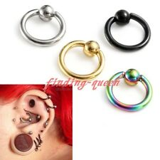 16g Surgical Steel Tragus Helix Hoop Captive Ring Cartilage 6mm Ear Stud Earring