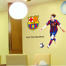 Football Soccer Wall Sticker Decal RVP  Madrid soccer Barcelona Messi Manchester