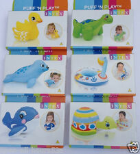 Intex Puff N Play Piscina Inflable & Bath Juguetes Dinosaurio Dolphin Pato Sello Swan