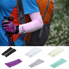 1 PAIR COOLING ARM SLEEVE COVER SUN PROTECTION GYM WORKOUT TATTOO COVER