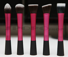 Synthetic Makeup Pointed Angled Flat Head Duo Fibre Stippling Foundation Brush