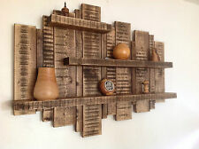 SALE **** LARGE FLOATING WALL SHELF SOLID WOOD DISPLAY UNIT WOODEN RUSTIC SHELF