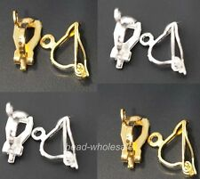 30pcs New Fashion silver/Golded Tone Earring Clip Findings