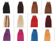 "20pcs 50g Straight Tape In Real Remy Human Hair Extensions Blond Brown18""-24"""