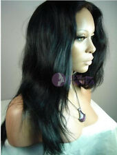 "14""-22"" 100% Brazilian Remy human hair Lace front wig Natural straight AAAA"