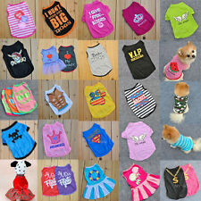 Pet Dog Cat Cute T Shirt Vest Apparel Clothes Coat Puppy Fancy Dress Costume