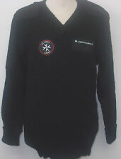 ST JOHNS Black sweater/Jumper (New) with patches and badges #12009